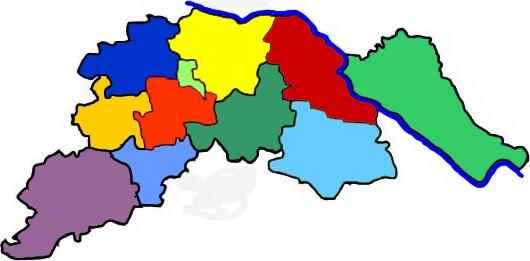 Karte des Landkreises Lüneburg mit seinen Gemeinden